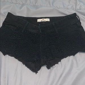 Hollister black shorts. Size 0